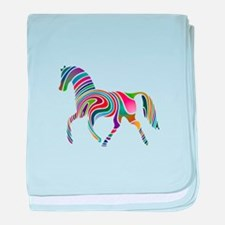 Horse Of Many Colors baby blanket