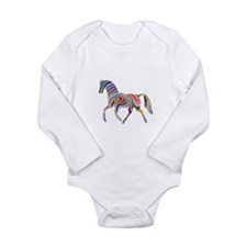 Horse Of Many Colors Long Sleeve Infant Bodysuit