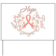 Uterine Cancer Hope Deco Yard Sign