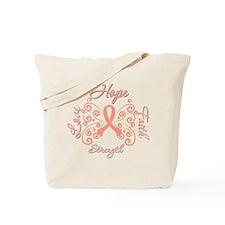 Uterine Cancer Hope Deco Tote Bag