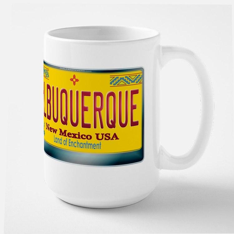 """""""ALBUQUERQUE"""" New Mexico License Plate Large Mug"""