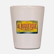 """ALBUQUERQUE"" New Mexico License Plate Shot Glass"