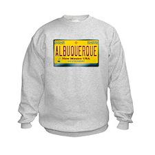 """ALBUQUERQUE"" New Mexico License Plate Sweatshirt"