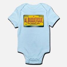 """ALBUQUERQUE"" New Mexico License Plate Infant Body"