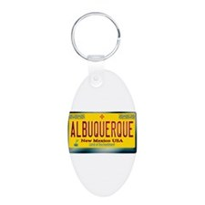 """ALBUQUERQUE"" New Mexico License Plate Keychains"