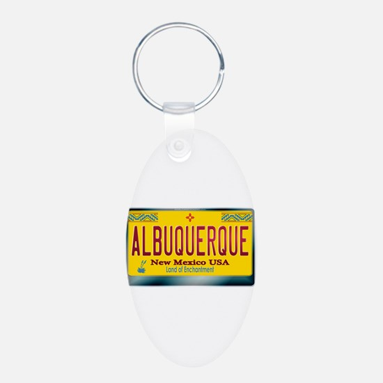 """""""ALBUQUERQUE"""" New Mexico License Plate Keychains"""