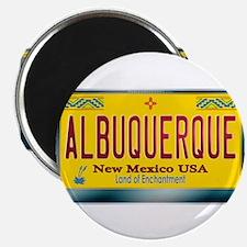 """ALBUQUERQUE"" New Mexico License Plate 2.25"" Magne"