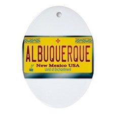 """ALBUQUERQUE"" New Mexico License Plate Ornament (O"