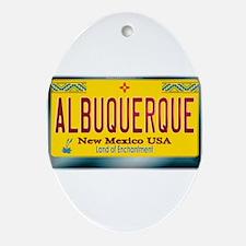 """ALBUQUERQUE"" New Mexico License Plate Ornament (O"