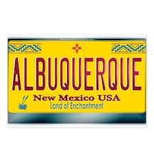 """ALBUQUERQUE"" New Mexico License Plate Postcards ("