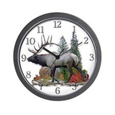 Bull Elk Wall Clock