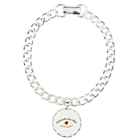 Friends for life-tandem Charm Bracelet, One Charm