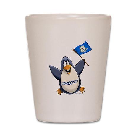 Connecticut Penguin Shot Glass