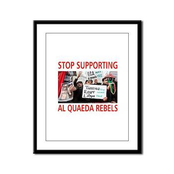 OBAMA HELPING AL QUAEDA Framed Panel Print