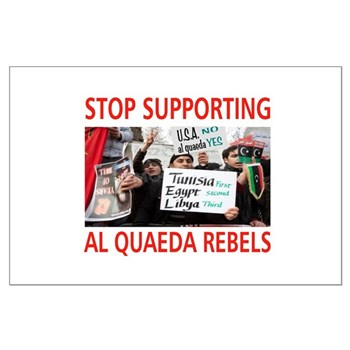 OBAMA HELPING AL QUAEDA Large Poster