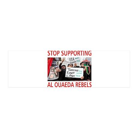 OBAMA HELPING AL QUAEDA 42x14 Wall Peel