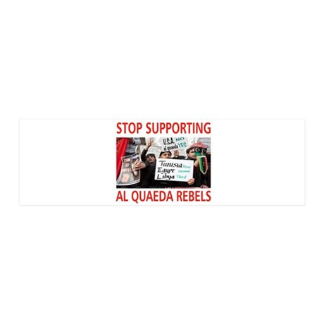OBAMA HELPING AL QUAEDA 21x7 Wall Peel