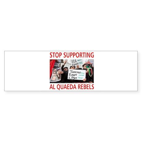 OBAMA HELPING AL QUAEDA Sticker (Bumper)