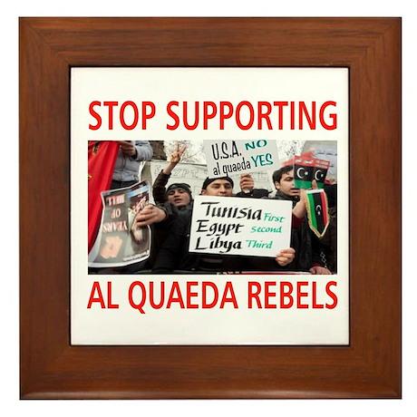 OBAMA HELPING AL QUAEDA Framed Tile