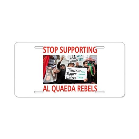 OBAMA HELPING AL QUAEDA Aluminum License Plate