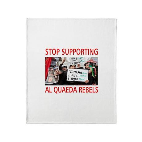 OBAMA HELPING AL QUAEDA Throw Blanket