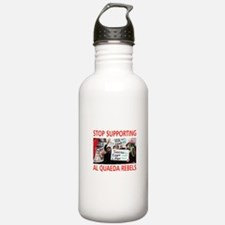 OBAMA HELPING AL QUAEDA Water Bottle
