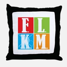 Fear Less Knit More Throw Pillow