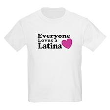 Everyone Loves a Latina Kids T-Shirt