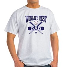 World's Best Baseball Dad T-Shirt
