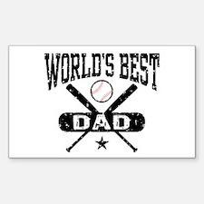 World's Best Baseball Dad Decal