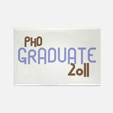 PhD Graduate 2011 (Retro Purple) Rectangle Magnet