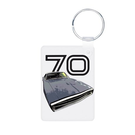 1970 Charger Aluminum Photo Keychain