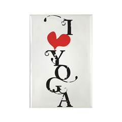 I heart YOGA Rectangle Magnet