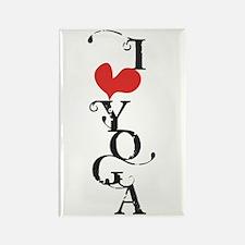 I heart YOGA Rectangle Magnet