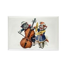 Christmas Musical Cats Rectangle Magnet