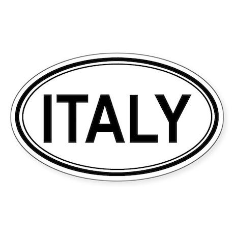 Italy Euro Oval Sticker