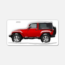 Snow Covered Jeep Wrangler Aluminum License Plate