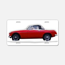 Snow Covered MG Aluminum License Plate