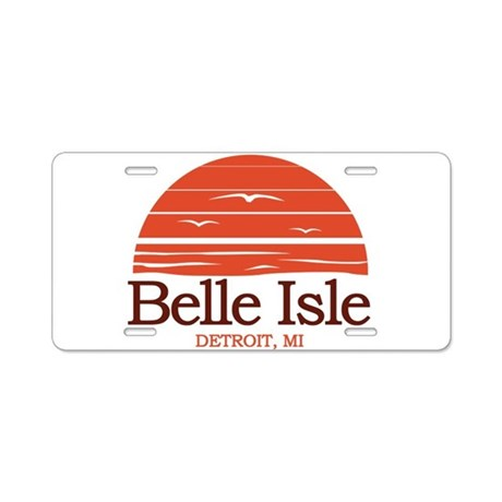Belle Isle Aluminum License Plate