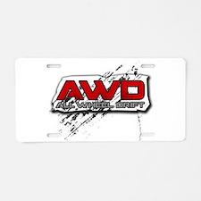 All Wheel Drift Aluminum License Plate