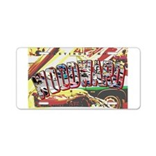 Woodward Ave Aluminum License Plate
