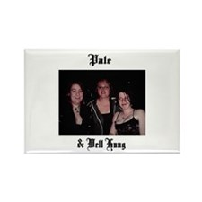 Pale and Well Hung Rectangle Magnet
