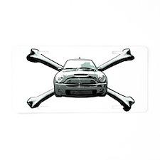 Cooper Crossbones Aluminum License Plate