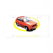 Yugo Aluminum License Plate