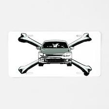 Scirocco Crossbones Aluminum License Plate