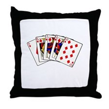 Diamond's Royal Flush Throw Pillow