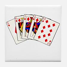 Diamond's Royal Flush Tile Coaster