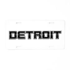 DETROIT Aluminum License Plate