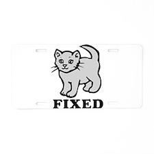 Fixed Aluminum License Plate