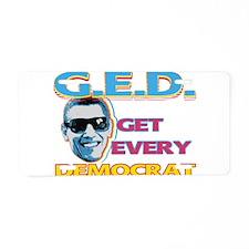 G.E.D. Aluminum License Plate